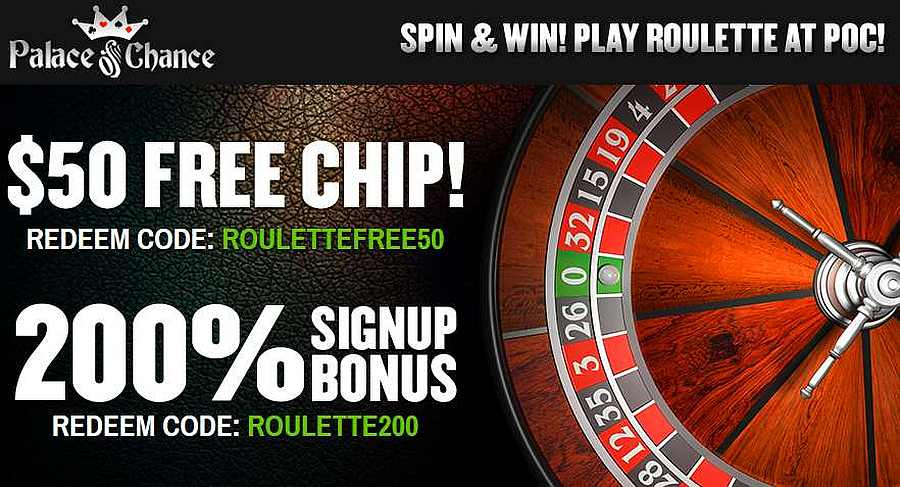 Palace Of Chance Casino 50 Free Chip Code Roulettefree50