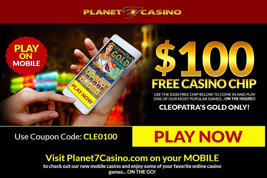 Planet7 Casino 100 No Deposit Bonus Code Cleo100