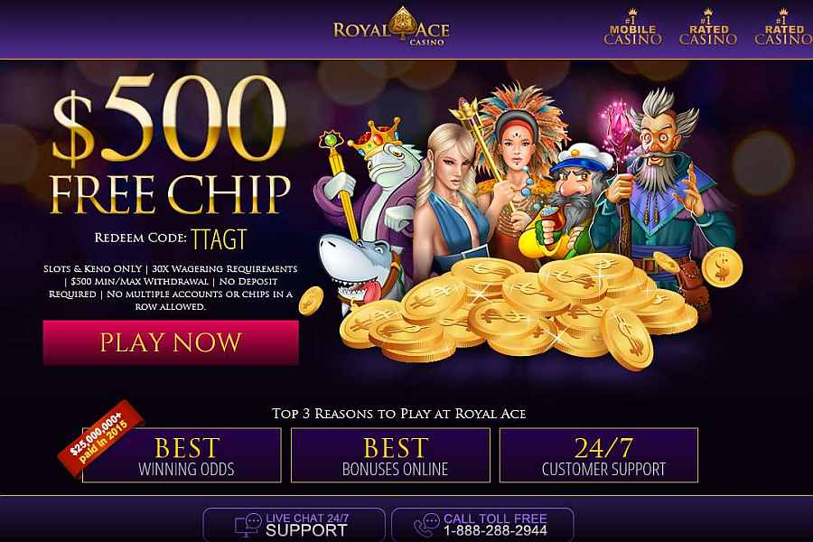 Royal Ace Casino 500 No Deposit Bonus Bonus Code Ttagt